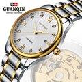 Marca GUNQIN hombres reloj mecánico automático relojes de los hombres vestido de lujo superficie de Zafiro relogio masculino GQ80006
