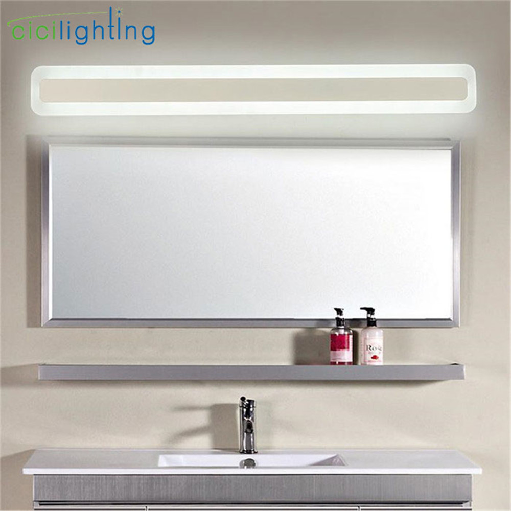 bathroom mirror wall lights 110 240v l40cm 50cm 60cm 70cm modern decor acrylic 16258
