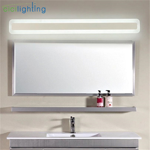 Superbe 110/240V L40cm 50cm 60cm 70cm Modern Art Decor Acrylic Bathroom Mirror  Light Long Vanity