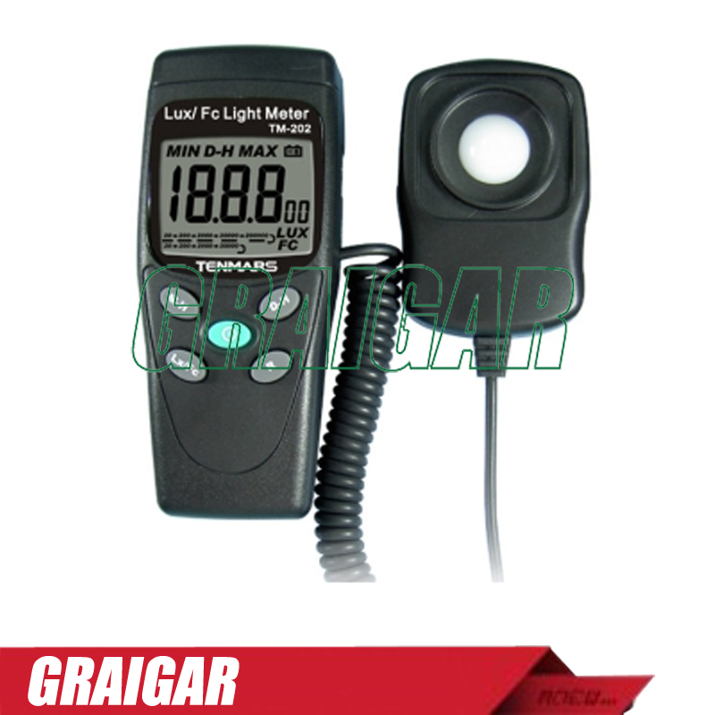 TM-202 Light Meter Digital LED Light Meter Luminometer Lux Meter with maximum reading 2000 lg ga b 489 svqz
