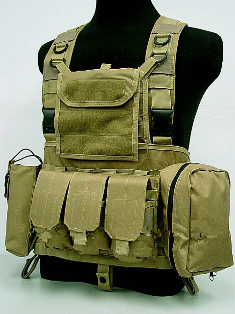 FSBE LBV Load Bearing Molle Assault Vest Coyote Brown OD MC AT