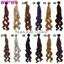 MUZIWIG Synthetic Fiber Water Waves Curly Hair Wefts for BJD/Blyth/American Dolls DIY Accessories(China)