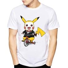 2018 Creative Cartoon Printing Pikachu font b T Shirt b font Pokemon Design T Shirts Short