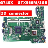 G74SX GTX560M 2GB 4 RAM Slots N12E GS A1 2D Screen line interface Mainboard For ASUS G74S G74SX Laptop Motherboard 100% Tested