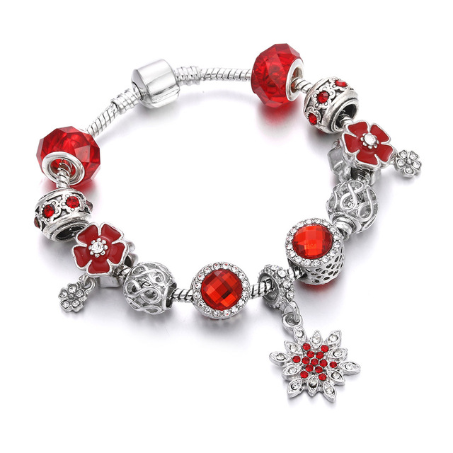 Red Crystal Beaded Bracelet...