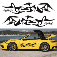 6pcs/lot Front Bumper Fire Car Stickers and Decals Flame Pattern Auto Hood Sticker Vehicle Doors Styling Car Accessories