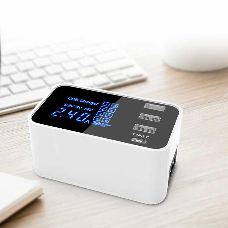 4USB зарядка цифровой дисплей интеллектуальное IC автоматическое распознавание
