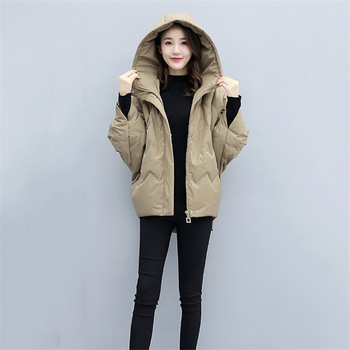 Women Bat sleeves are light short Down Parkas Coats Winter Lady Hooded White Duck Down Jacket Waterproof Snow Outerwear YH332