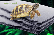 1 piece natural rock turtle stone pad aquarium supplies food basin food plate reptile lizard moisturizing insulation tortoise