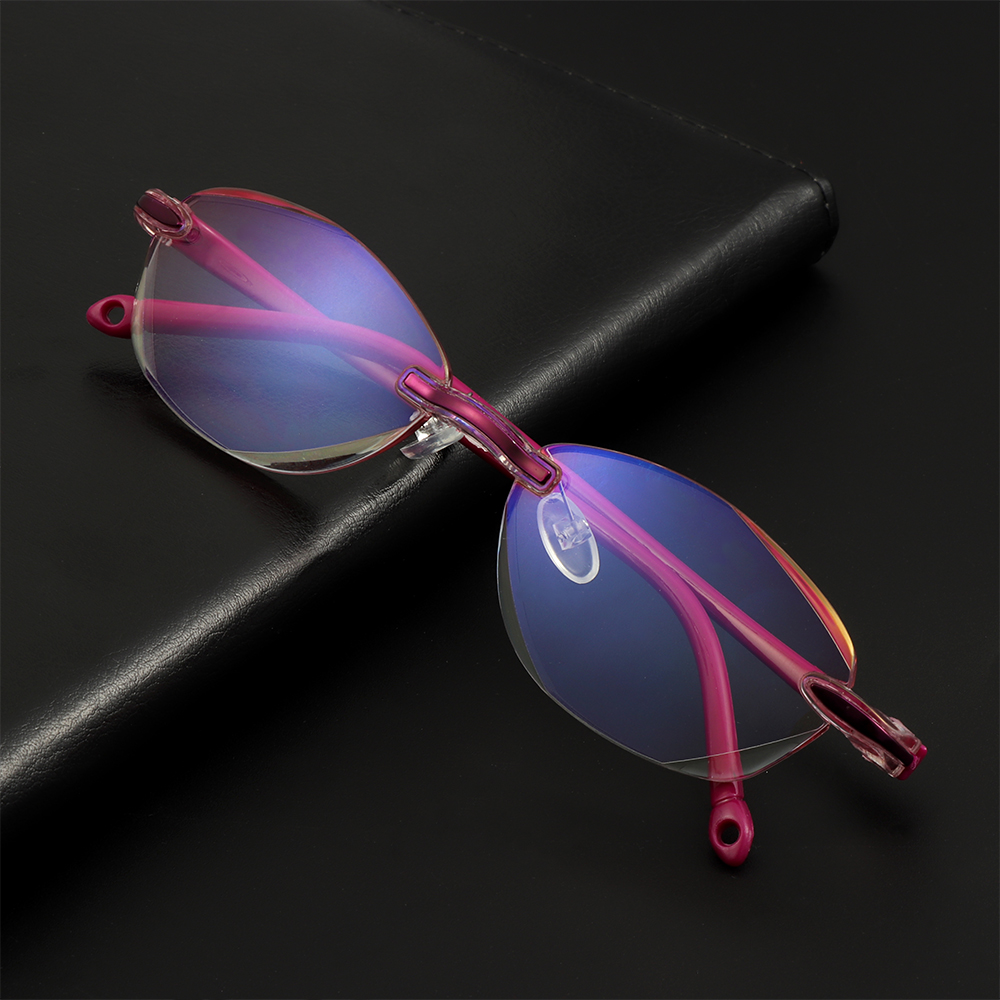 Anti Blue Light Reading Glasses Women Men Clear Eyeglasses Rimless Eyewear Computer Eye Glasses Presbyopia +1.0 1.5 2.0 3.0 4.0