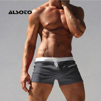 ALSOTO Men Swimwear Swimsuits Shorts New Board Shorts Trunks Pocket Mens Boxers Beach Board Shorts Bathing Suit
