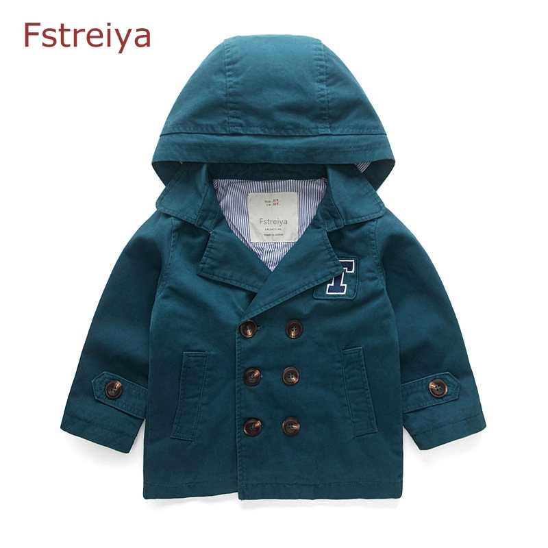 Baby boys jackets girls coat children cotton Hooded kids Outerwear 4T-10Tboys windbreaker 2018 spring bobo choses girl clothes