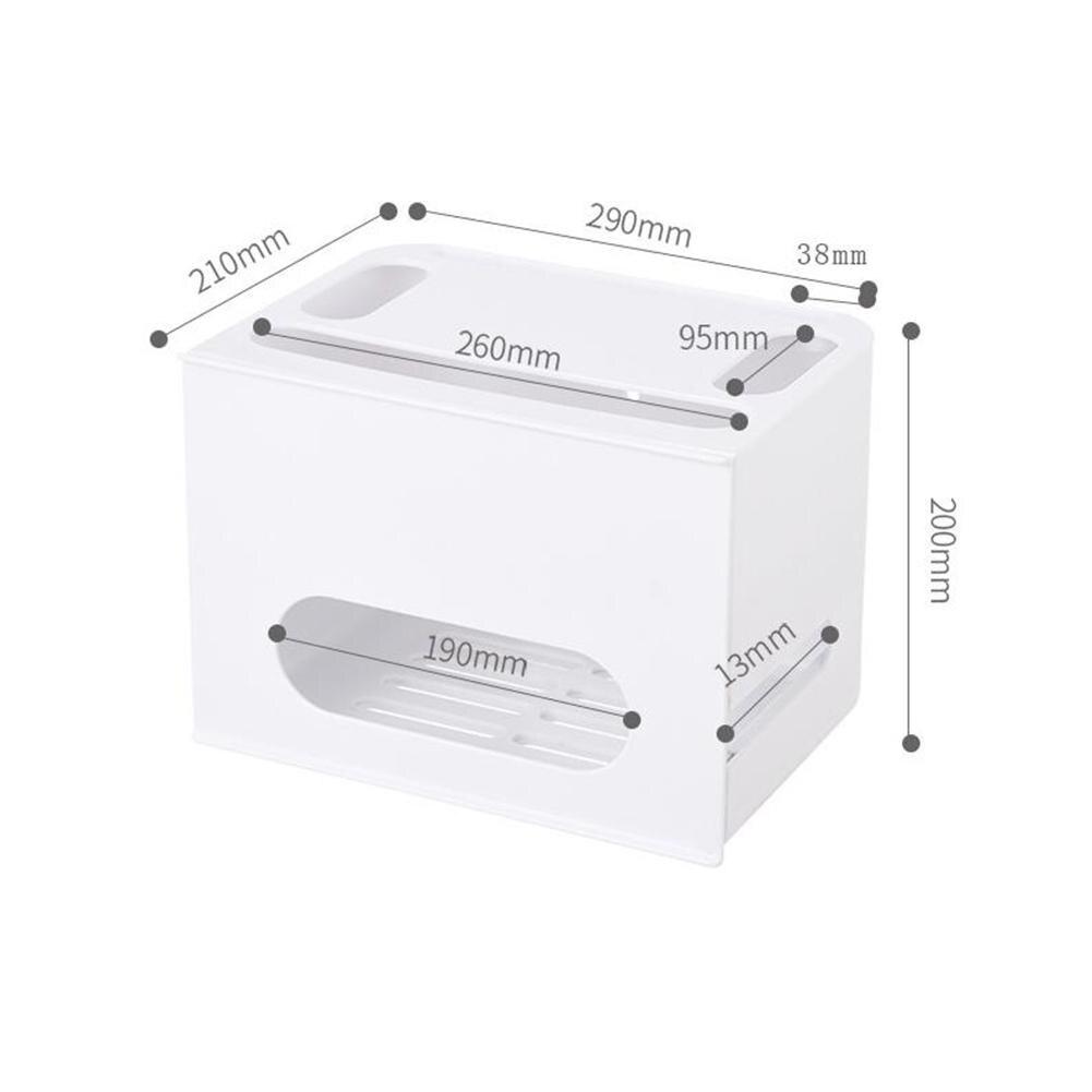 Boîte de stockage de routeur de Wifi de Type de tiroir de Double couche pour le câble de conseil de fil organisent - 6