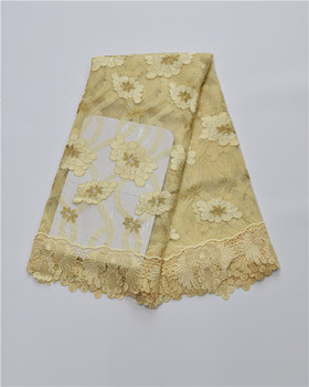 Lace and fabric Newest High Quality Sweet Design Beaded Nigerian Swiss voile net lace,African lace fabric  16.A20