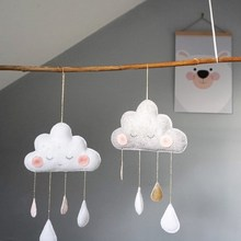 Felt Cloud Raindrops Garland Best Gifts For Girls Wall Hanging Ornaments Nordic Baby Room Tents Nursery Decor Photography Props