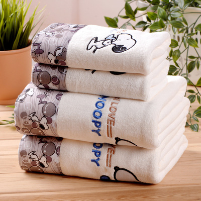 Image 3 - ZHUO MO 3 Piece Quick Drying Cartoon Microfiber Towel Set Bath Towel Face Beach Towel 450g Water absorbent toallas for Bathroom-in Towel Sets from Home & Garden