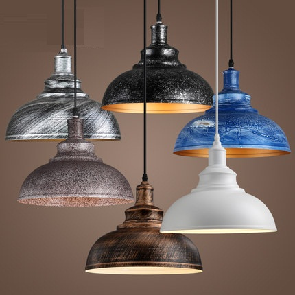 American Loft Style Iron LED Pendant Light Fixtures Industrial Vintage Lighting For Dining Room Bar Hanging Lamp Lamparas america country led pendant light fixtures in style loft industrial lamp for bar balcony handlampen lamparas colgantes