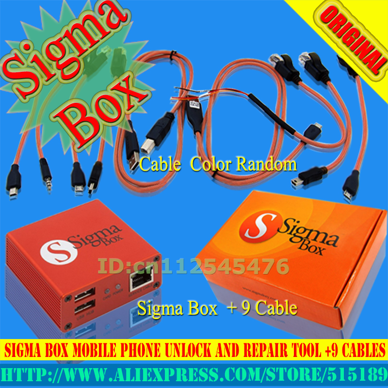 100% Original Sigma Box+9cables And Repair For Nokia,ZTE,Huawei