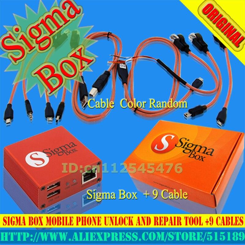 100% boîte d'origine Sigma + 9 câbles et réparation pour Nokia, ZTE, Huawei