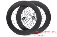 88mm Clincher Carbon Wheels Carbon 700C Clincher Tubular Wheel Width 23mm Carbon Wheel Bike Road Wheels