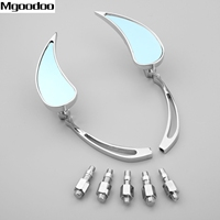Chrome Teardrop Custom Motorcycle Rear View Side Mirror For Harley Cruiser Chopper Davidson Retroviseur Moto Scooter