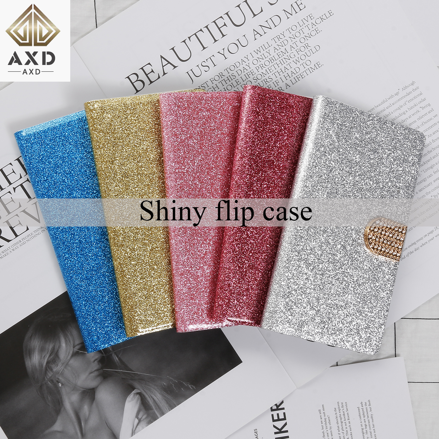 Shining diamond flip case for Samsung Galaxy Note 8 9 fundas Stand capa wallet cover slots PU leather card capa for Note8 Note9 in Flip Cases from Cellphones Telecommunications