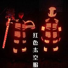 СВЕТОДИОДНЫЙ световой костюм робот с подсветкой костюм для ночных клубов СВЕТОДИОДНЫЙ Костюмы Бальные освещения Костюмы Косплэй