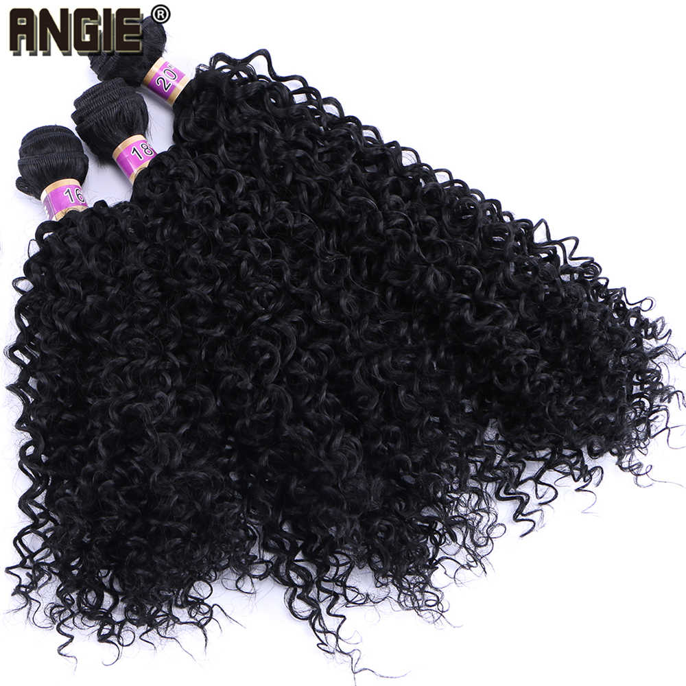 Kinky Curly Hair Weave 70g/pcs Heat resistant tissage fiber Synthetic Hair Bundles double Weft Extension for Women 1 Bundle Only