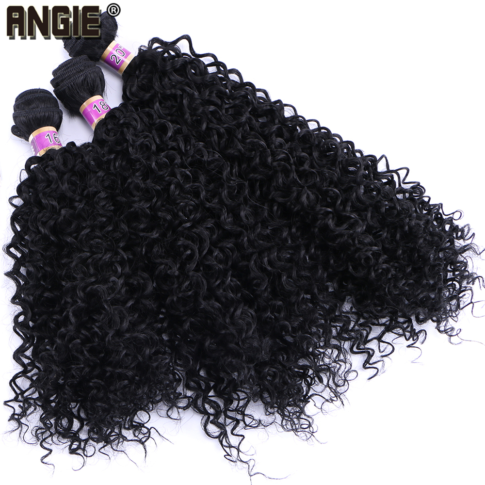 Kinky Curly Hair Weave 70g/pcs Heat Resistant Tissage Fiber Synthetic Hair Bundles Double Weft Extension For Women