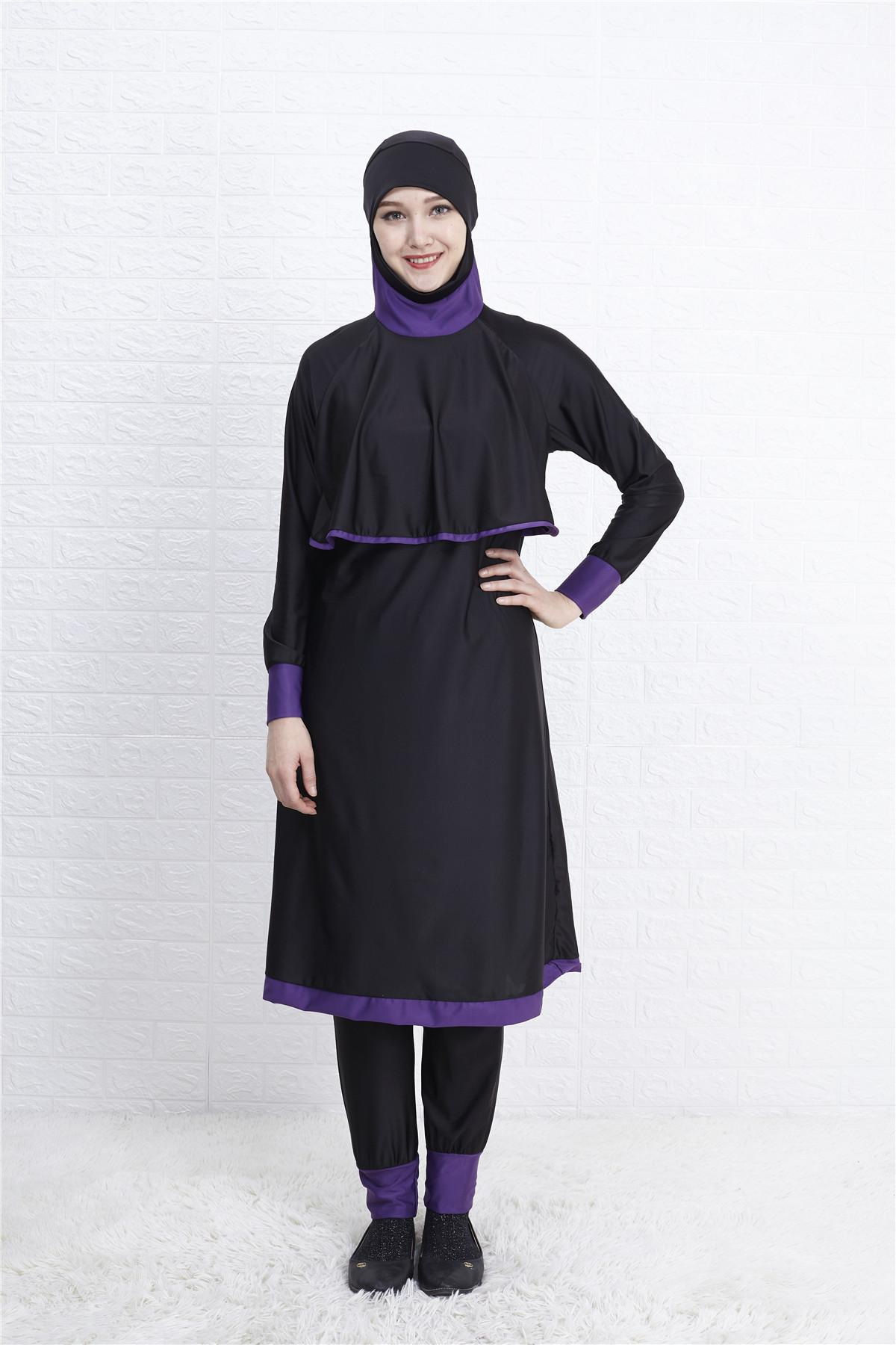New Hijab Women Swimming Suit Long Full Cover Burkini Muslim Swimwear Swimsuit Woman Islamic Swim Wear Modest Bathing Beachwear