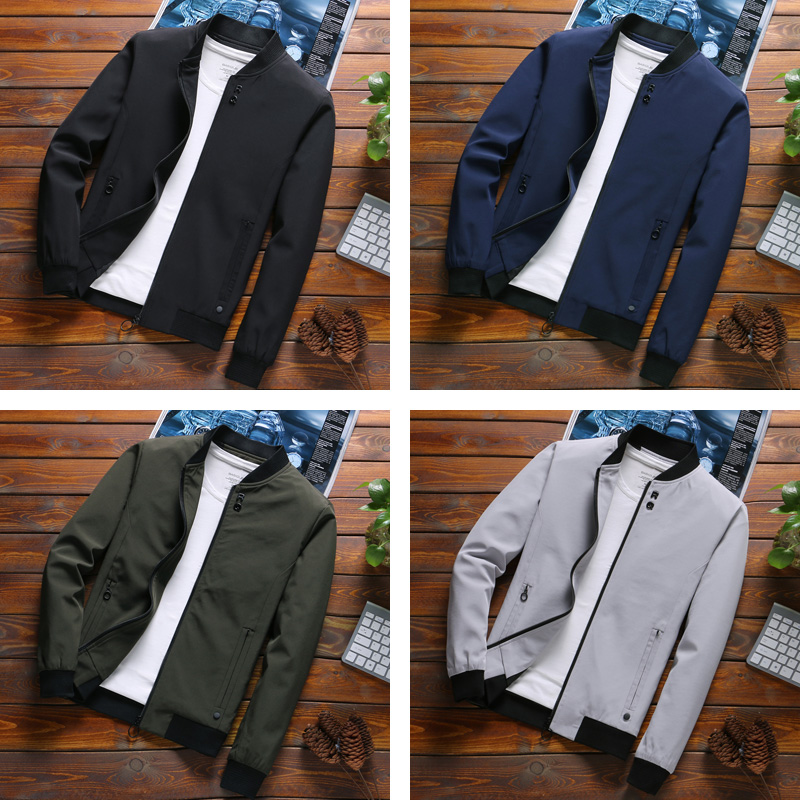 Image 4 - COMLION Mens Spring Jackets and Coats Solid Color Casual Jacket Men Hot Sale Jacket Jaqueta Masculina Asian Size Slim Fit C34-in Jackets from Men's Clothing