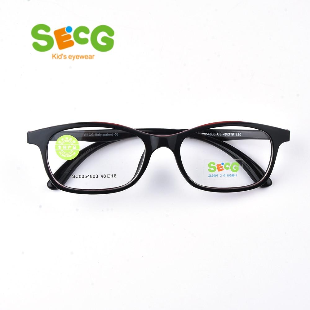 SECG Top Brand Children Optical Glasses Frame Kids Frame TR90 Glasses Children High Quality Solid Kids Eyewear Frames SC0054803