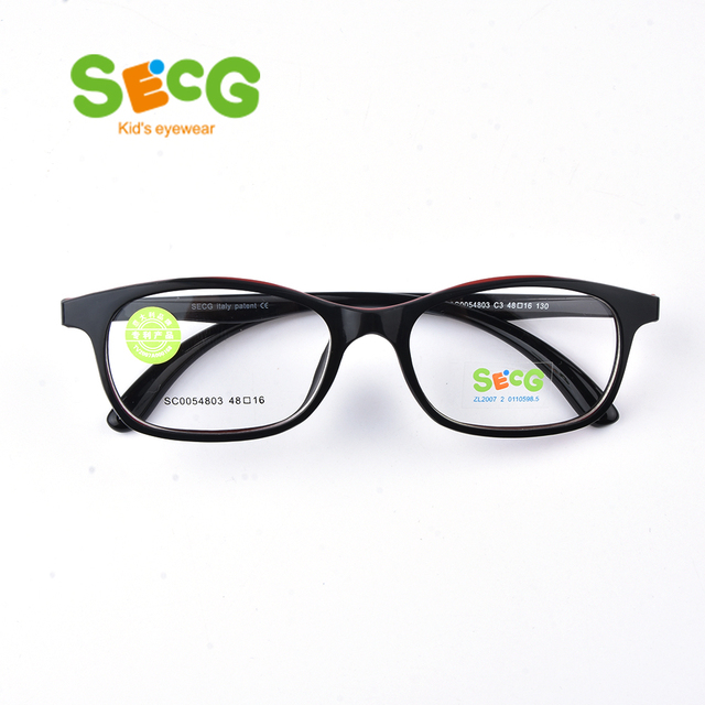 dada3ecc9a5b SECG Top Brand Children Optical Glasses Frame Kids Frame TR90 Glasses  Children High Quality Solid Kids Eyewear Frames SC0054803