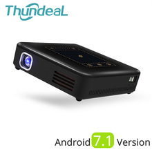 ThundeaL Android 7,1 проектор T20 Пико DLP 3D светодио дный проектор TouchPad Bluetooth, Wi-Fi мини-Поддержка 4 К Бимер Батарея дома театр