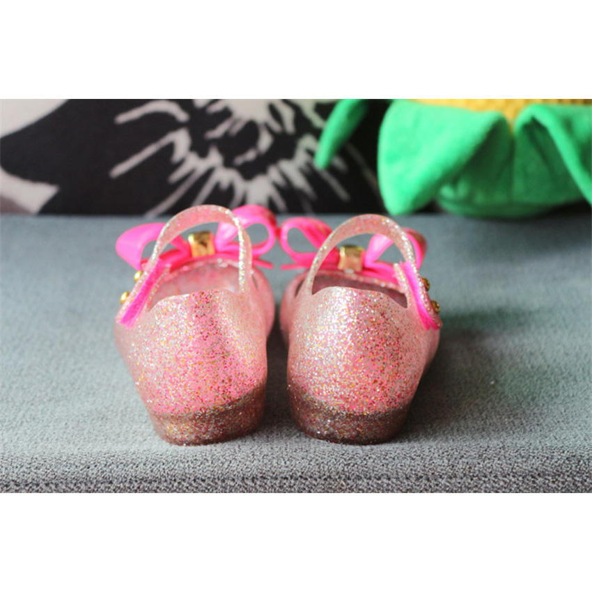 BOKEN New ChildrenS Mesh Hole Shoes Girls Sandals Jelly Shoes Sandals Shoes For Girls Crystal Mini Shoes