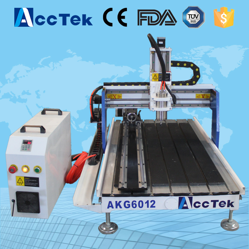 Acctek desktop cnc milling machine AKG6090/6012 for wood ,stone ,metal/hobby cnc wood router akg y 20u