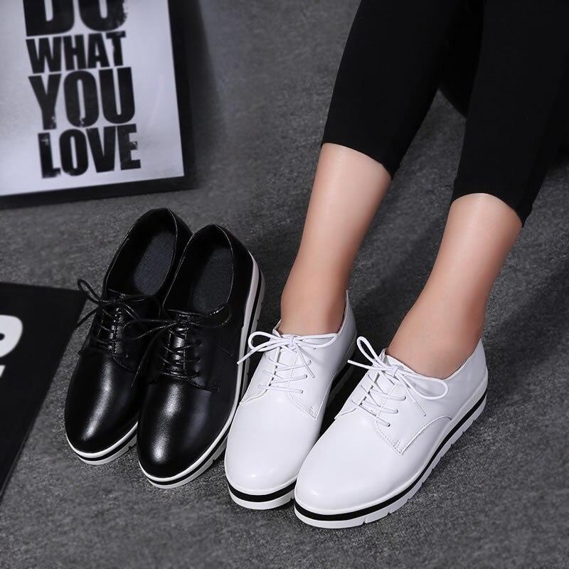black X009 Lianes Suède Femmes Dames Chaussures 2017 Lacent White forme Zoqi En Occasionnels Appartements Printemps Plate Cuir nx1aqq6A