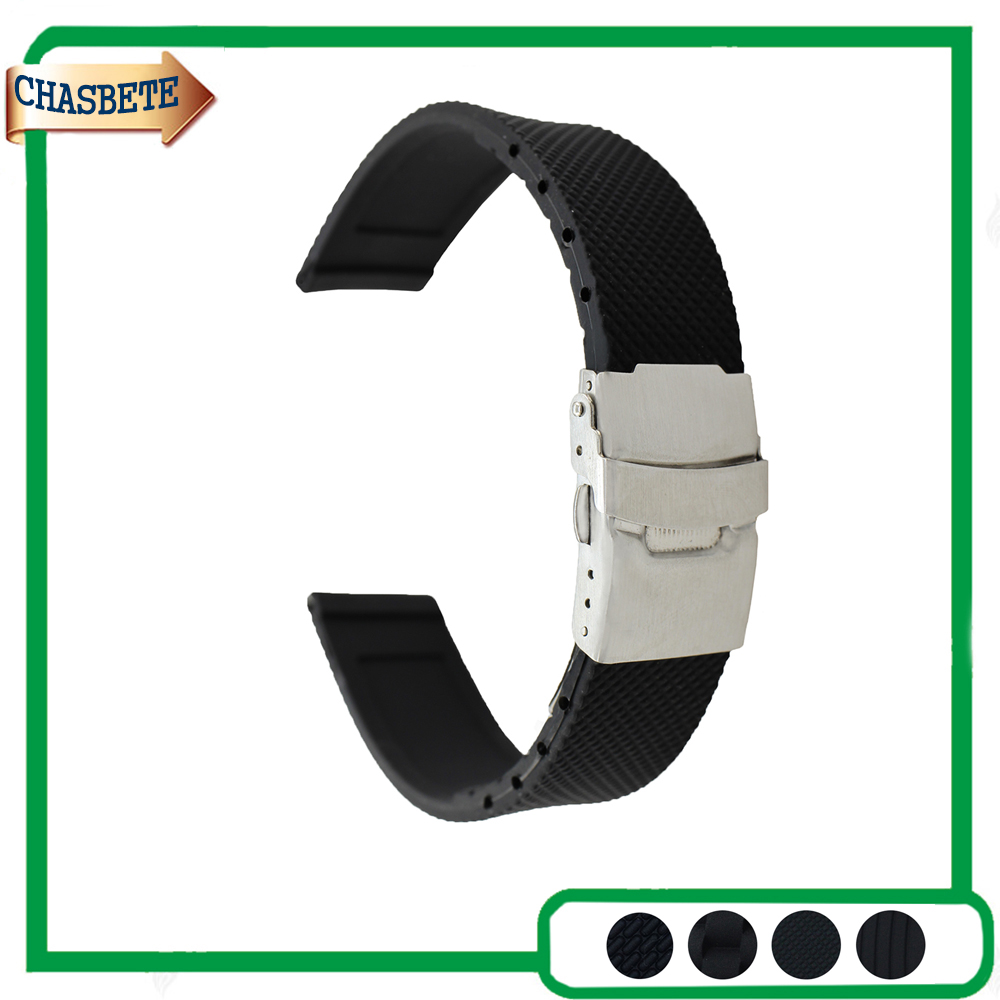 все цены на Silicone Rubber Watch Band for Breitling Watchband 18mm 20mm 22mm 24mm Men Women Resin Strap Belt Wrist Loop Bracelet Black