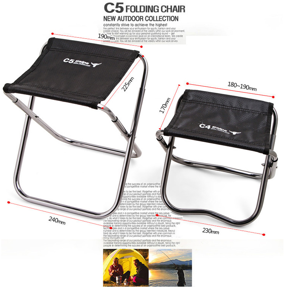 Image 2 - Camping Fishing Chair Children Mini C4 Folding Kamp Sandalyesi Foldable Outdoor Sillas de playa Stool Portable Silla Beach Bench-in Fishing Chairs from Sports & Entertainment