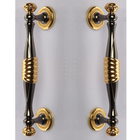 Length 11 High Quality Zinc Alloy Wood Door Kitchen Door Washroom Pulls Black Nickel Gold Two