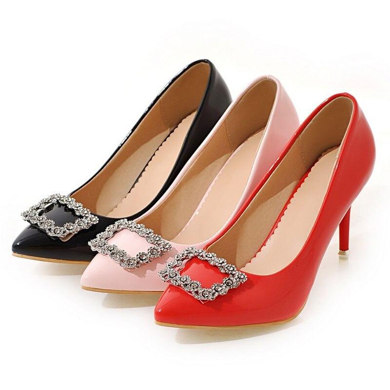 Daitifen Classique pink Sexy Bal Chaussures De Beige Blanc Mariage 2018 red Nouvelle Mode Haute Black Mince Mujer Zapatos Pompes Femmes Talon Rouge Noir Talons frqBwPcfU4