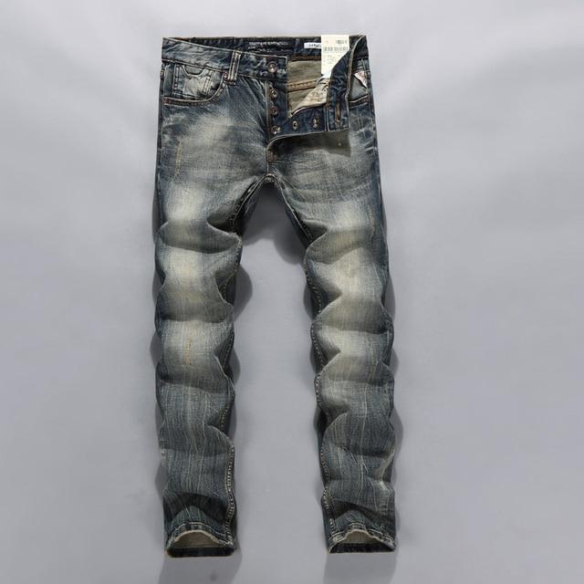 071b698a625 New brand design mens jeans slim straight printed biker jeans for men plus  size 38 36