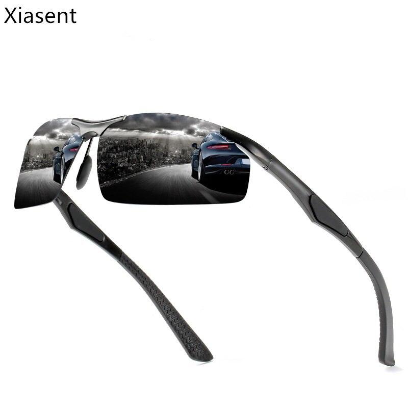 Xiasent Men's Aluminum Magnesium Alloy Polarized Sunglasses Sports Style Glasses Windshield Sunglasses UV400Gafas De Sol