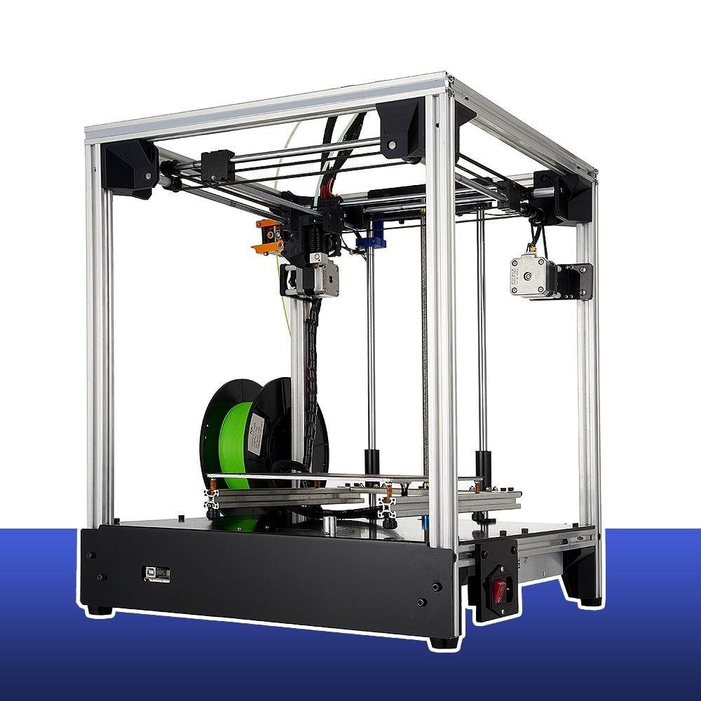 3d printer FDM 205*205*245mm size Full metal structure 3d-printers 3D  hot bed Soft magnetic sticker 2019NEW DIY KIT PRINTERS