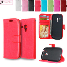 Flip for Samsung Galaxy S 3 iii mini Case S3 Siii i8190 GT-i8190 Value Edition VE i8200 GT-i8200 GT-i8200L Phone Leather Cover