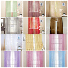 1PC Blinds Chic Room Solid Voile Window Curtain Sheer Voile Panel Drapes Translucidus Curtain