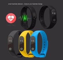 Bluetooth Smart Band M2HR монитор сердечного ритма Водонепроницаемый IP67 сообщение/напоминание Браслет Для Xiaomi Android IOS смарт-часы