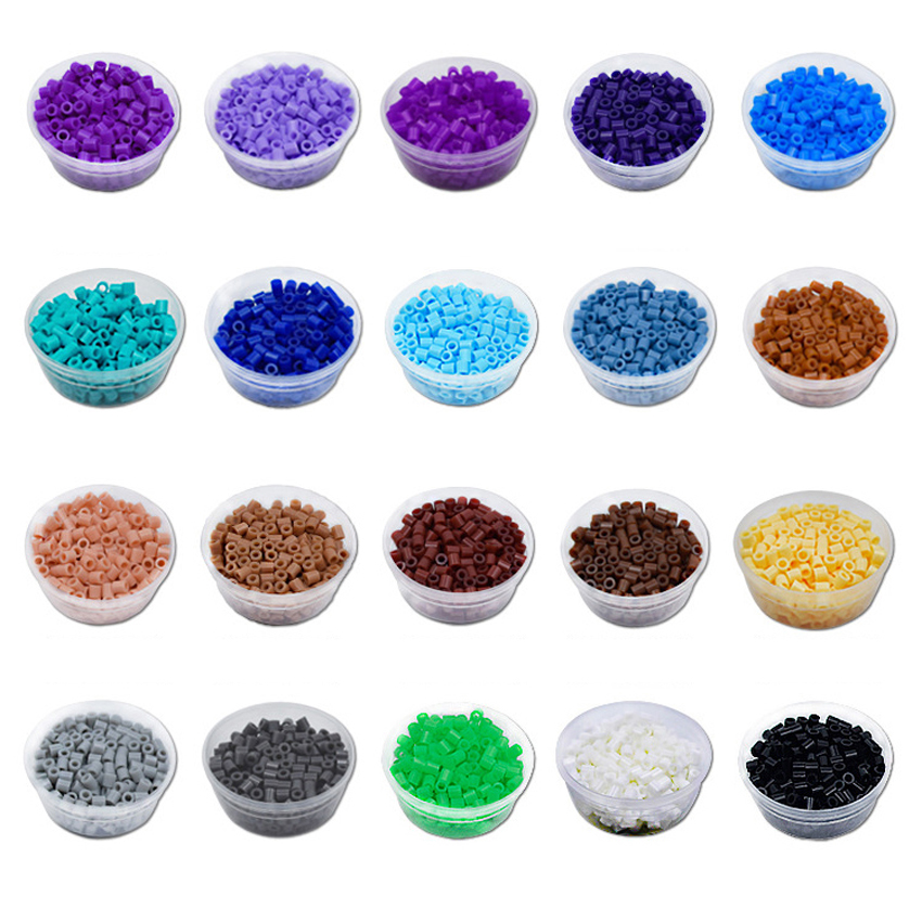 DOLLRYGA 2.6mm 1500pcs 72 Color Beads for Kids hama Perler DIY Puzzles Peas High Auality Handmade Girl Gifts Children Toys