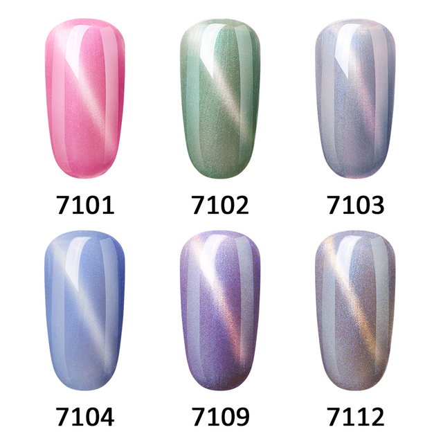 FairyGlo 10ML Nail Gel Varnish Jade Cat Eye Gel Nail Polish Magnet Hybrid Varnish Semi Permanent Nails Lacquer Primer Base Top 2