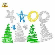 цены Christmas Die metal cutting dies cut die mold Star letter decoration Scrapbook paper craft knife mould blade punch stencils die